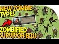 NEW ZOMBIFIED SURVIVOR BOSS + ZOMBIE TYPES INBOUND - Last Day On Earth Survival Update 1.8.1