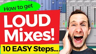 How to MIX LOUDER – in 10 Easy Steps! 🔥🔥#mixing #mastering #loudness