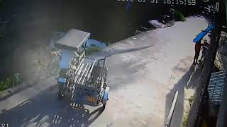 Funny accident caught on Hikvision CCTV camera Philippines,Asi-Automation Security Inc