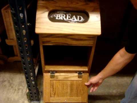 Amish Oak Wood Bread Bin