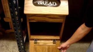 Amish Oak Wood Bread Bin
