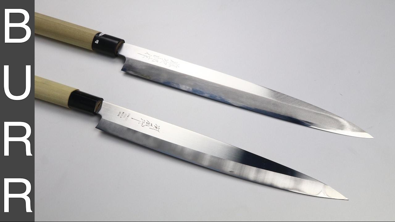 Sharpening $12 Yanagiba Sushi Knife - YouTube