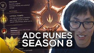 Doublelift - BEST ADC RUNES FOR SEASON 8 (NEW RUNES) - League of Legends Highlights