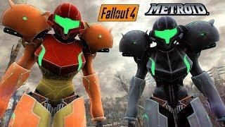 Fallout 4 - METROID VARIA SUIT POWER ARMOR! - Samus Armor