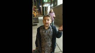 Kid decided to use his Fortnite money to spend on hats and gloves for the homeless instead