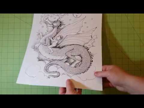 The Imaginary World of Jane F. Hankins coloring book review and flip through