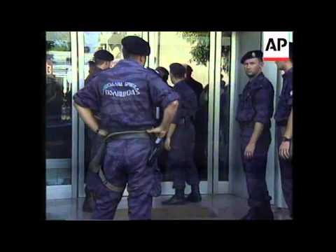BOSNIA: NATO NEGOTIATORS END STANDOFF BETWEEN KARADZIC AND PLAVSIC