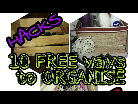 10 Free Ways to Organise | Organising Hacks for Indian Homes