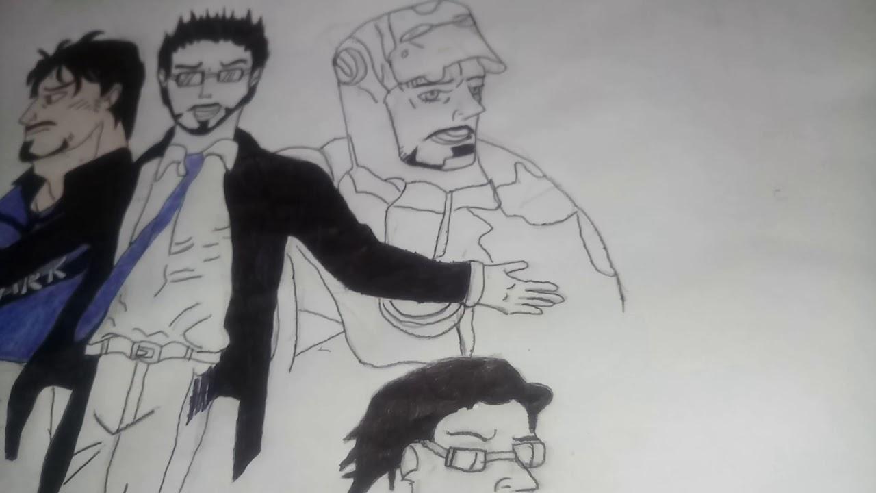 Pintando O Desenho De Tony Stark Homem De Ferro Part 5 Youtube