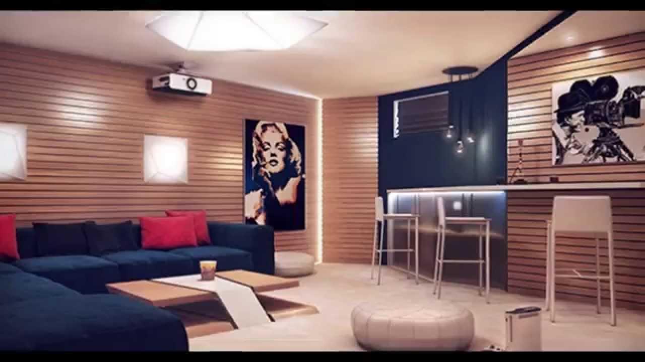 Dcoration salon des murs en bois  YouTube