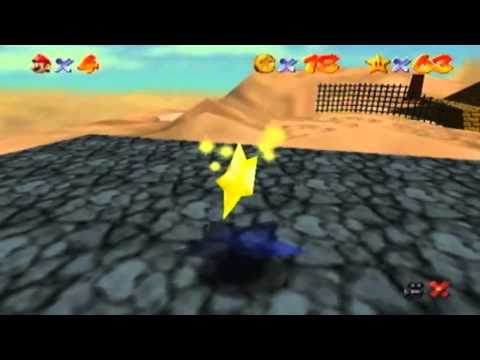 "Super Mario 64 playthrough part 9 ""The hot but awful Desert level"""