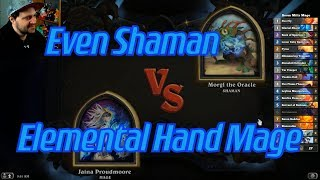 Elemental Hand Mage vs Even Shaman - Hearthstone