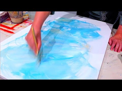 How To Paint And Blend A Background On Canvas | Acrylic Painting