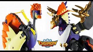 Digimon Digivolving Peckmon (ペックモン) a Crowmon/Yatagaramon (ヤタガラモン)