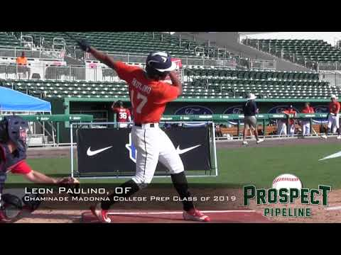 Leon Paulino prospect video, OF, Chaminade Madonna College Prep Class of 2019
