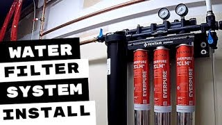 PENTAIR EVERPURE WATER FILTRATION SYSTEMS INSTALLED
