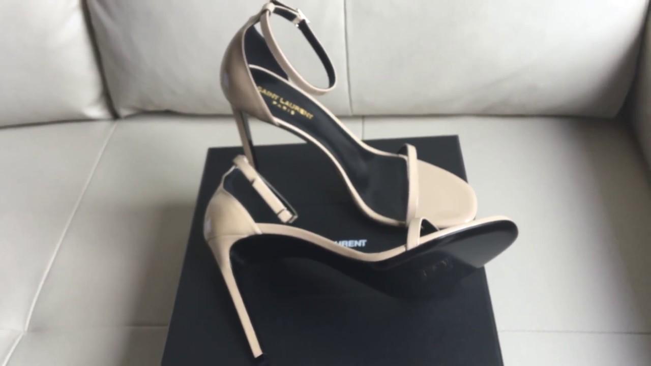 8aaf71b13a35c Saint Laurent jane sandals unboxing - YouTube