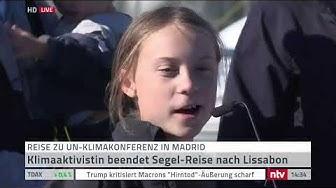 LIVE: Greta Thunberg kommt in Lissabon an #Klimakonferenz