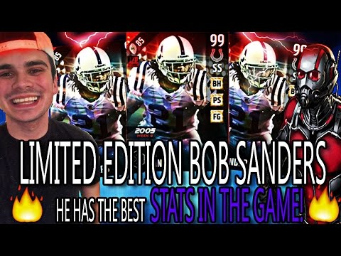 OMG 99 LIMITED EDITION BOB SANDERS IS AMAZING! HE DENIES EVERYTHING! | MADDEN 17 ULTIMATE TEAM