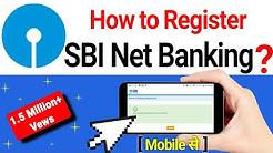 How to Registration SBI Net banking online at home, first time login kayse kare mobile se ?
