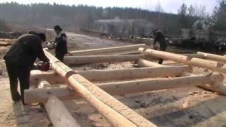 Канадская рубка.  Canadian hand-crafted log cabin. Недорогие срубы в канадку(Срубы из Псковской области: Канадка ( Канадская чаша). http://domlafet.ru Russia log cabin, Russia log house., 2013-04-30T17:49:05.000Z)
