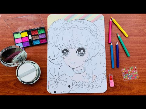 Trang Điểm cho Búp Bê Hàn Quốc, Tô Son, Đánh Phấn, Kẻ Mắt - Makeup Doll (Rainbow Candy)