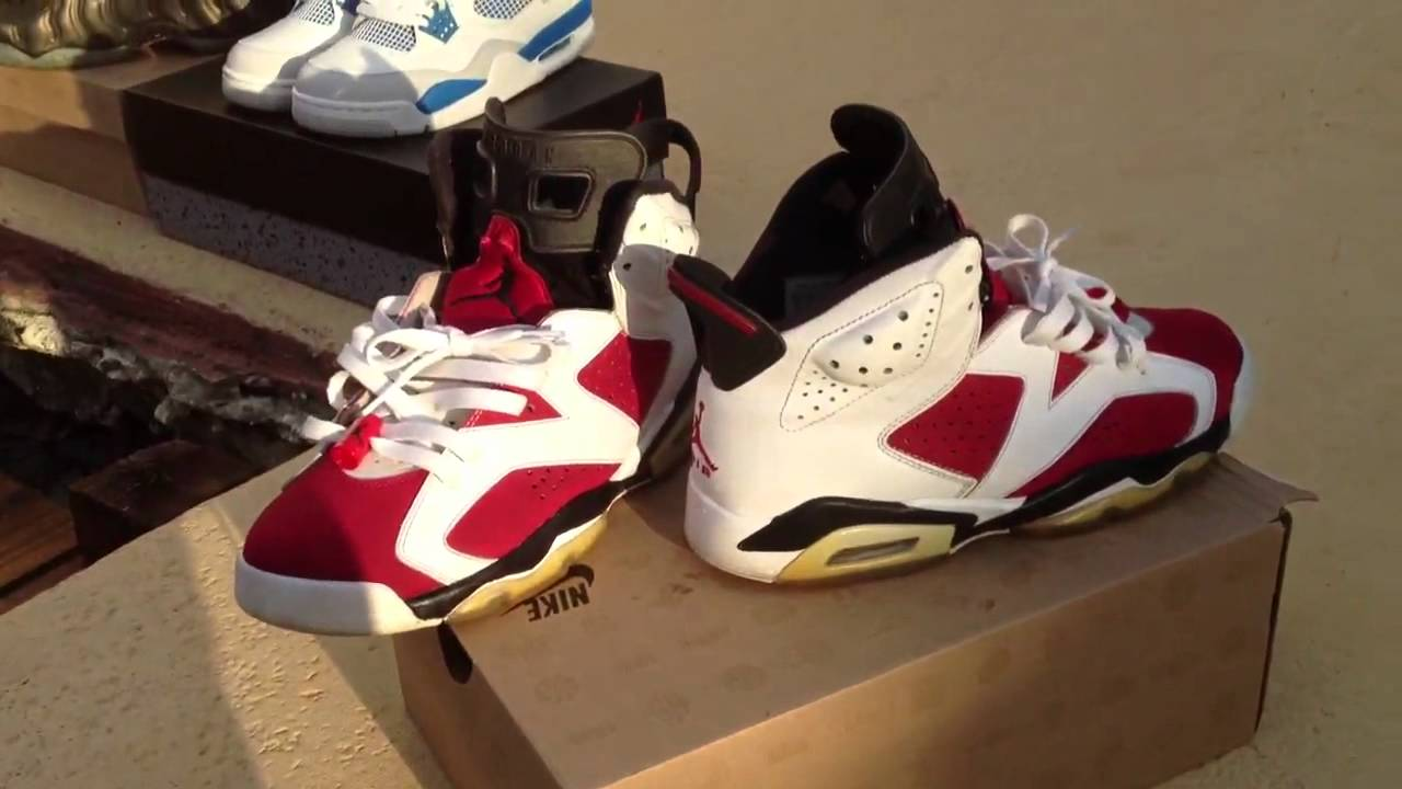 9963a589e38124 Jordan 6 Carmine review w  on foot - YouTube