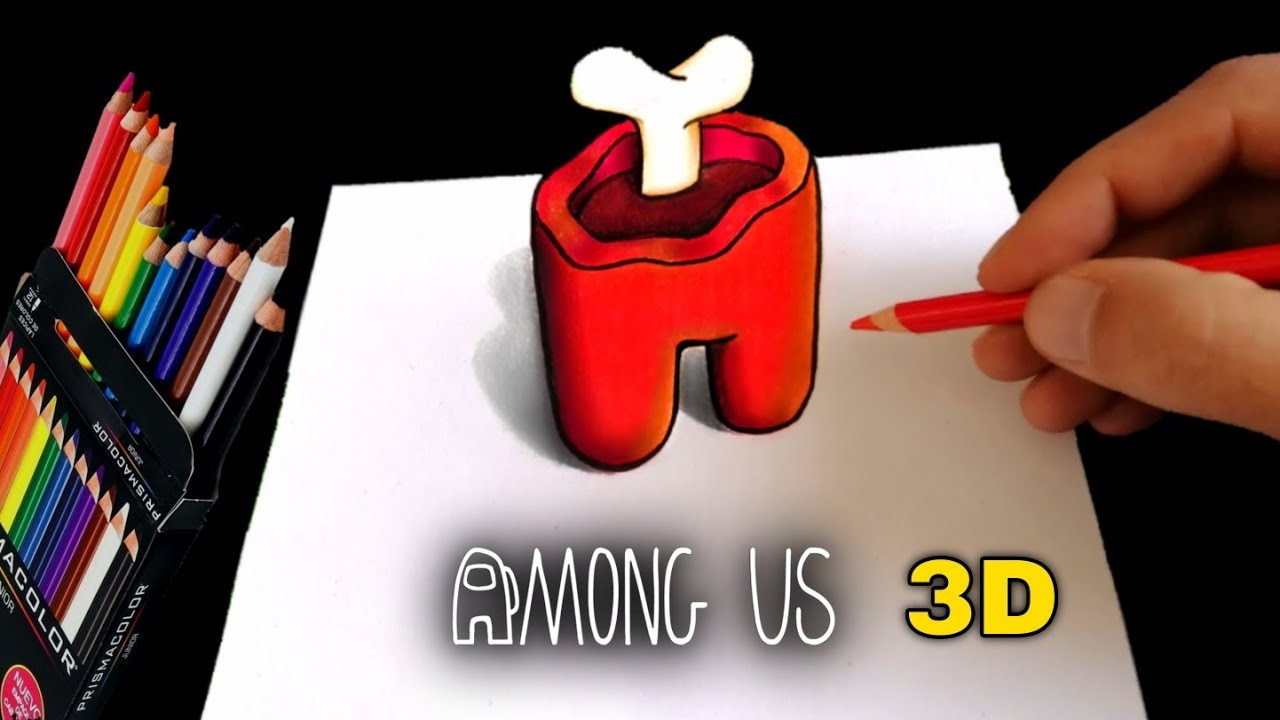 Download COMO DIBUJAR AMONG US EN 3D FÁCIL | CADAVER | how to draw among us dead body in 3D | EASY