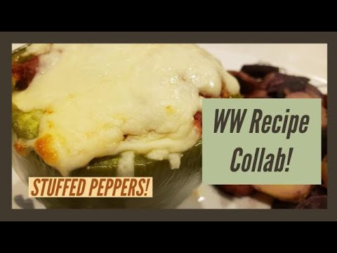 WW RECIPE COLLAB!! | STUFFED PEPPERS | WEIGHT WATCHERS!!