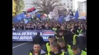 Сербия  Митинг в поддержку Новороссии и за историческое воссоединение Сербии и России !