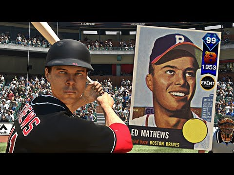 99 OVERALL BREAKOUT ED MATHEWS DEBUT! 3 DINGERS IN ONE INNING?! MLB The Show 17 Gameplay