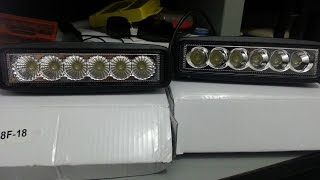 barra led 6 pulgadas 18w epistar led bar spot flood