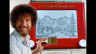 Bob Ross on Etch-a-Sketch - Evergreen Valley