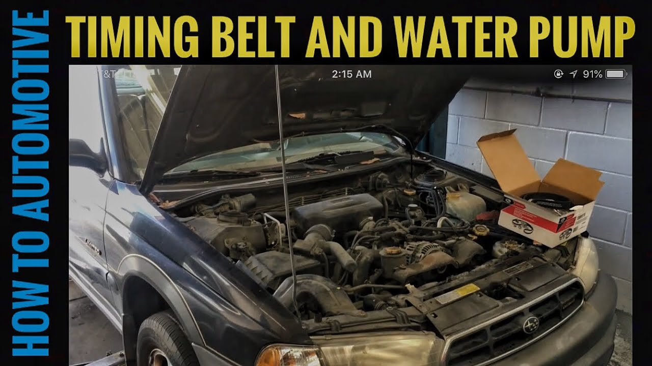 How To Replace The Timing Belt And Water Pump On A 1998 Subaru 2000 Saab 9 3 Howtoautomotive Autorepair