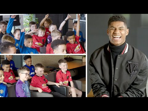 Marcus Rashford Gets Quizzed By A Room Full Of Football-mad Kids!