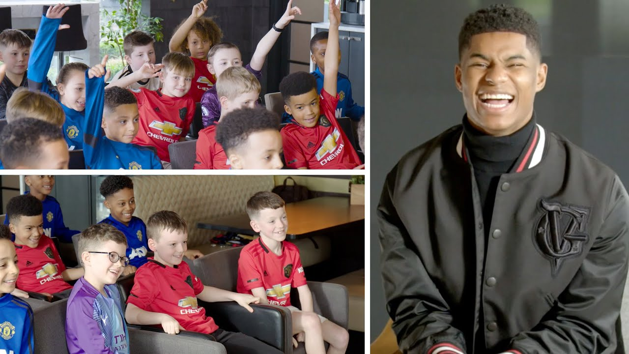 Marcus Rashford Gets Quizzed By A Room Full Of Football Mad Kids Youtube
