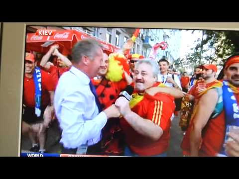 Mad Spain fans on Sky Sports before Euro 2012 final