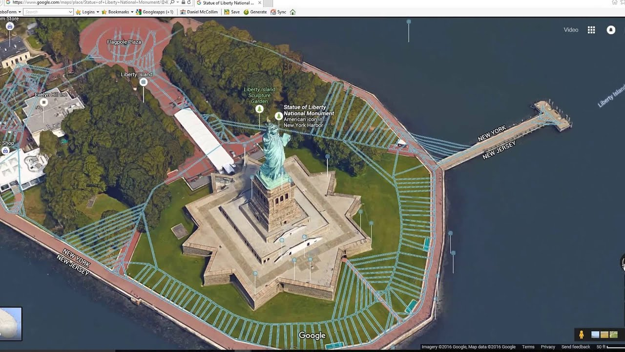 Video Dominion Google Maps Exploration The Statue Of Liberty In - Nyc map google maps