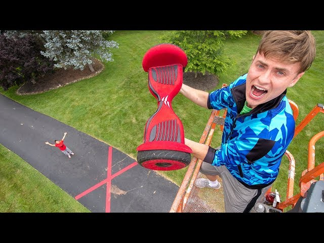 DROPPING HOVERBOARD 45FT!!