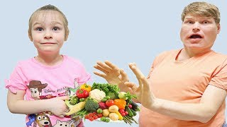 Emilia teaches dad to eat and exercise correctly شفا صارت سمينة !!!