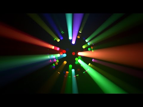 colorful led disco ball light rays loop youtube