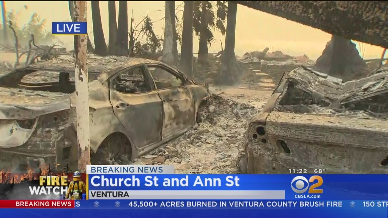 Ventura Apartment Building Destroyed By Thomas Fire - YouTube