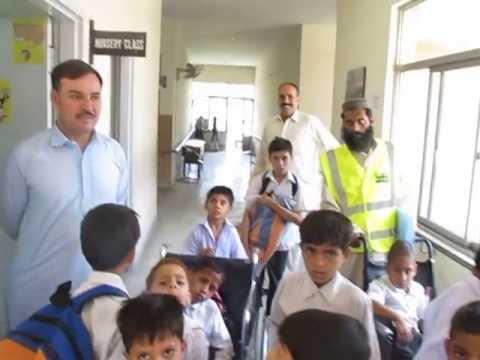 Isaar Trust team in Al-Farabi Special Education School, Islamabad
