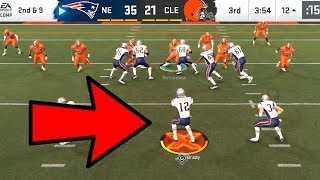 Tom Brady PRO READS ACTIVATED! Patriots vs Browns Madden 20 Online Gameplay
