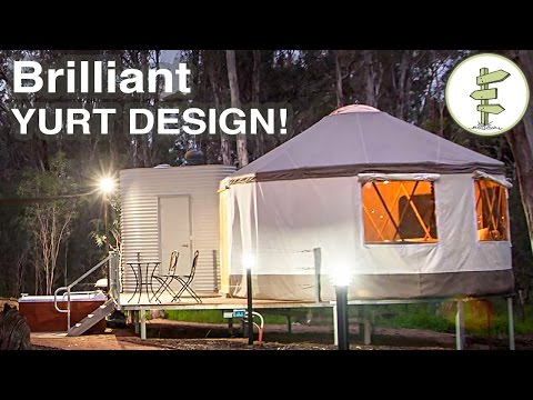 Brilliant Yurt Design! - Mixing Tradition With Super Modern Construction