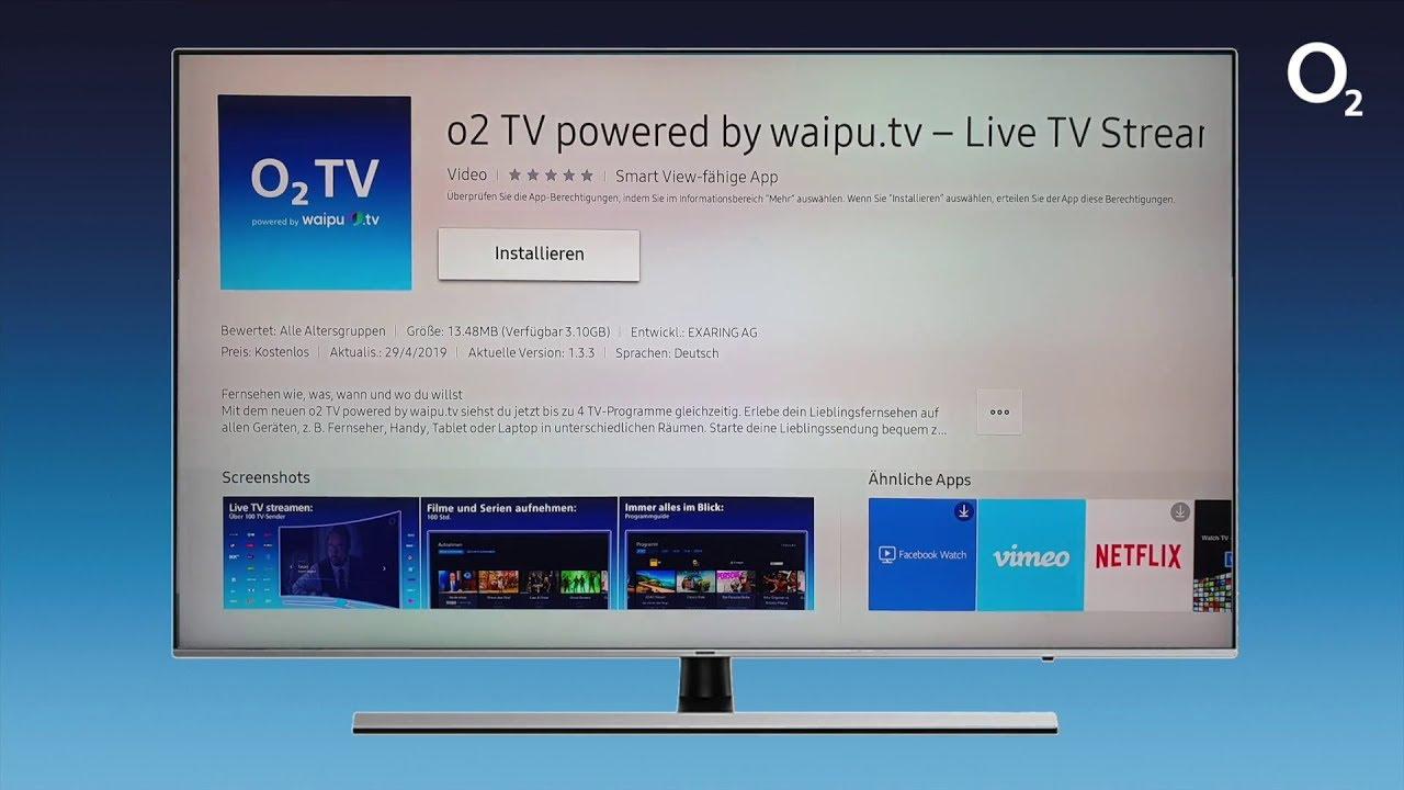 O2 Tv Installation Der App Auf Einem Samsung Smart Tv Youtube