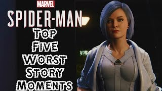 Top 5 WORST Story Moments in Spider-Man PS4!!!
