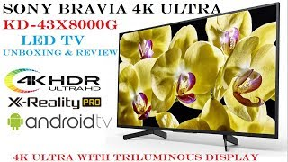 """SONY BRAVIA X80G Series 4K KD-43X8000G 43"""" LED Unboxing And Review"""