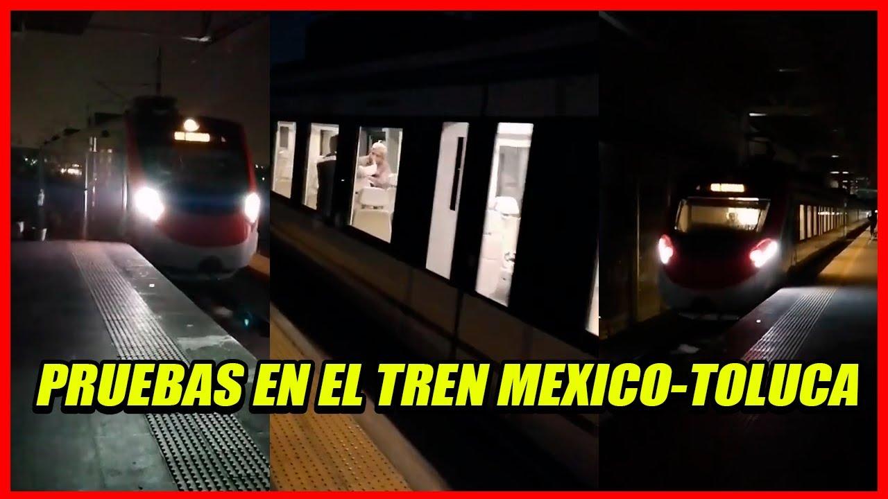 Realizan pruebas al Tren Interurbano México-Toluca