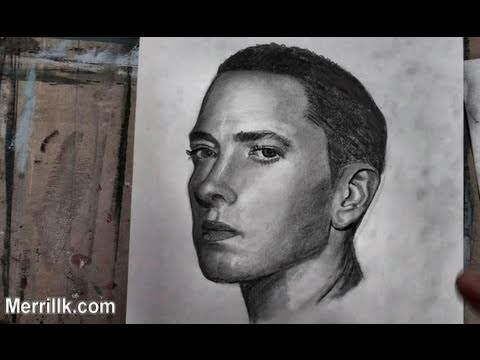 How to Draw Eminem (Portrait) Step by Step - YouTube